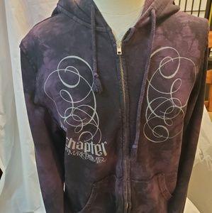 Purple Ambigram full zip hoodie